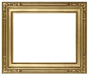 8 x 10 Arts & Crafts Style Picture Frame Hand Applied Gold Leaf Beauty