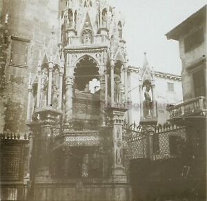 Italia-Monumento-Religion-c1910-Foto-Stereo-Placca-Da-Lente-VR12he