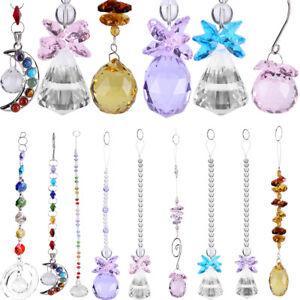 Rainbow-Suncatcher-Chandelier-Glass-Crystals-Lamp-Prisms-Parts-Hanging-Pendant-S