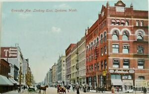 Divided-back-postcard-1907-1915-Downtown-Spokane-Wash-Printed-in-Germany