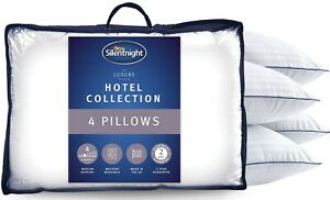 Silentnight Hotel Collection Luxury Piped Bed Pillow 4 Four Pack Quality Soft