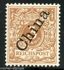 GERMANY OFFICES IN CHINA SCOTT#1b, MICHEL#1IIc  MINT NH