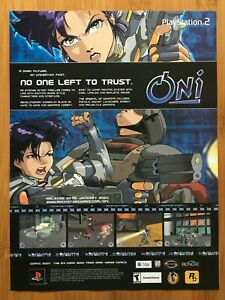 Oni-PS2-Playstation-2-2000-Vintage-Poster-Ad-Advert-Print-Pop-Art-Rockstar-Games