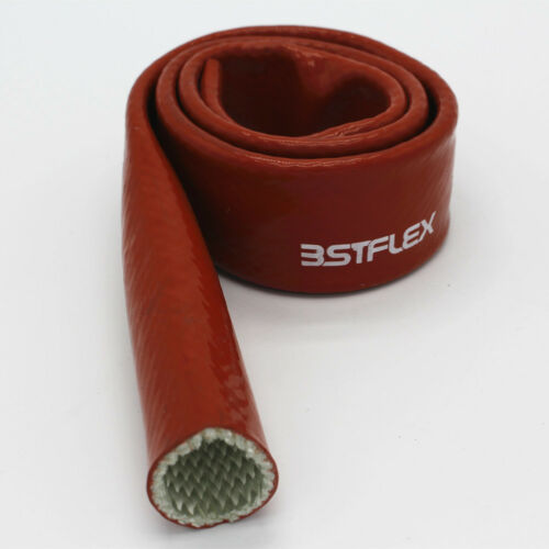 """Red 3 feet Fire Sleeve Braid Flame Heat Shield 5//16/"""" Fits 5AN for Oil Fuel Lines"""