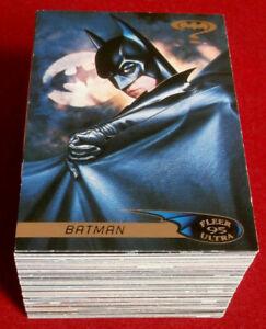 BATMAN-FOREVER-COMPLETE-BASE-SET-120-Cards-FLEER-ULTRA-1995