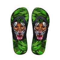 Men's Flip Flops Beach Sandals Slippers Outdoor Non-slip Animal Dinosaur Print
