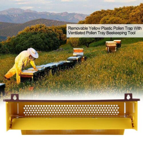 Beekeeping Pollen Trap with Removable Ventilated Pollen Tray Apiculture Tool USA