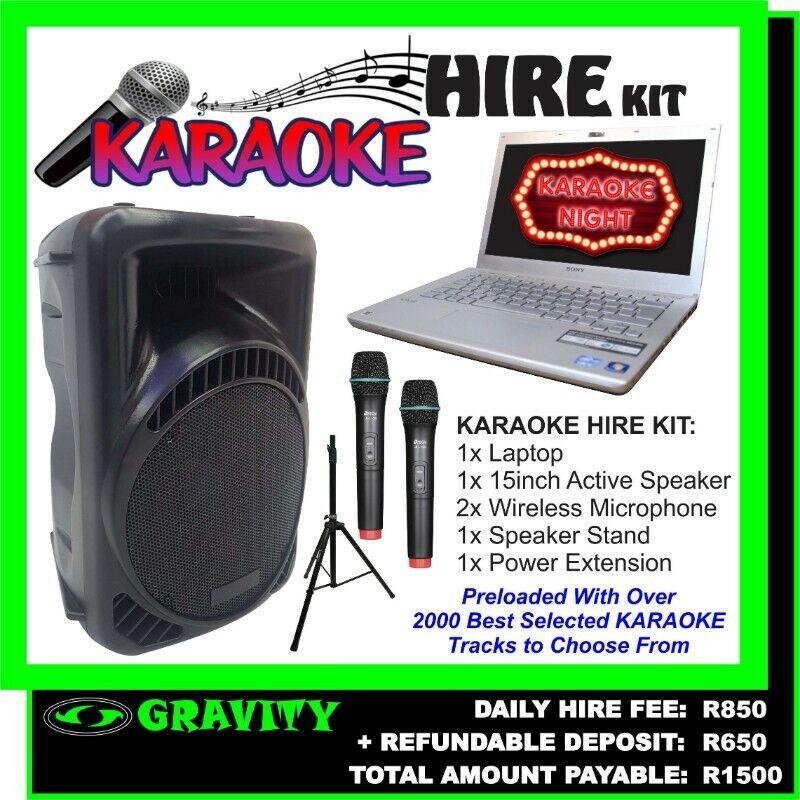Karaoke Sound Equipment Hire - Gravity electronics