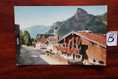 Praktisch Postkarte Bayern Lithografie Kafe Alpenrose Oberammergau