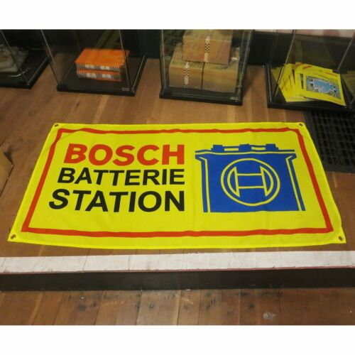 BOSCH Flag Banner Sign garage volkswagen porsche bmw samba okrasa cox kdf vw spw