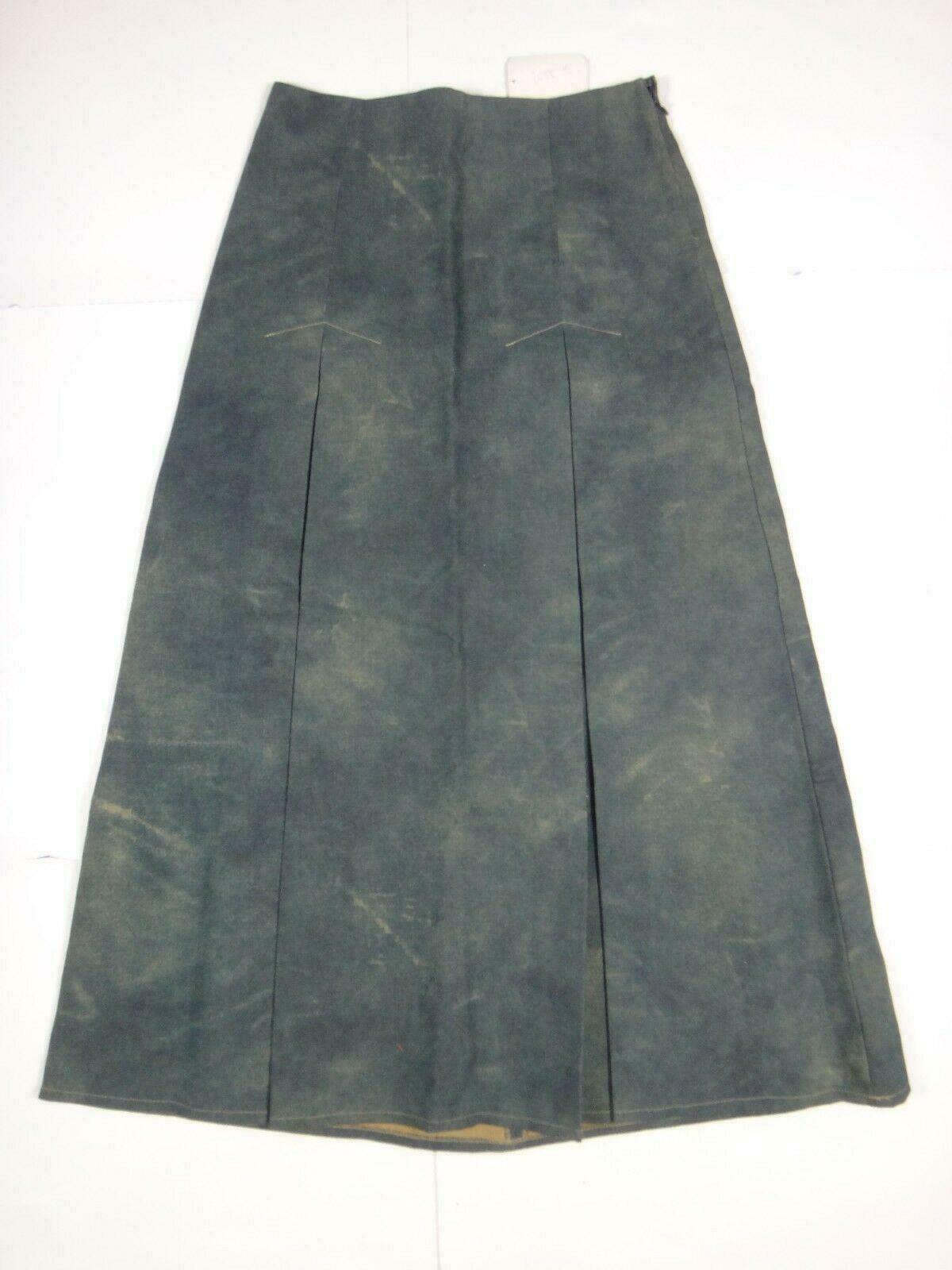 26995 Womens Skirt Fabric Mary Jane Size S Blue/Beige; stretch