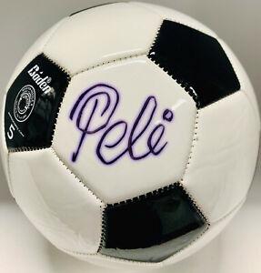 Pele-Firmado-Futbol-Bola-Autografiado-Blanco-y-Negro-PSA-DNA-ITP-COA-Imperfect