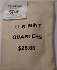 $25 (100 UNC coins) 2005 Colorado - P State Quarter Original Mint Sewn Bag