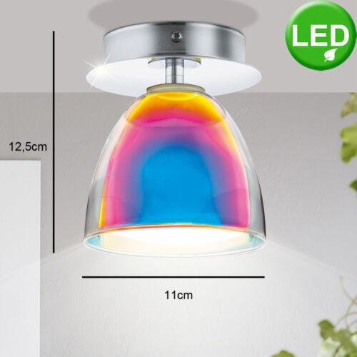 LED Aufbau Strahler Glas Büro Wohn Schlaf Zimmer Decken Wand Leuchte Spot Chrom