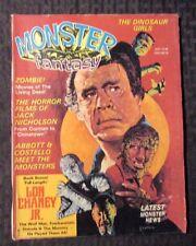 1975 MONSTER FANTASY Magazine v.1 #4 Jack Nicholson Lon Chaney Jr. FVF Lot of 2