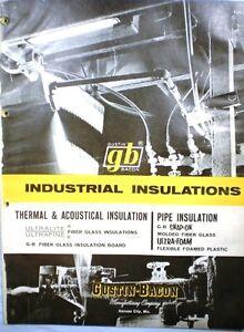 1962-GUSTIN-BACON-Insulation-Board-Catalog-ASBESTOS-Paper-Cement-Finish
