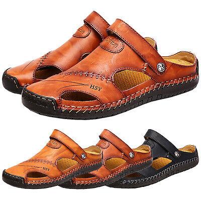 Herren Pantoletten Sandalen Hausschuhe Sommer Strand Schuhe Slippers Letzter Stil