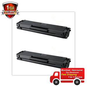 2PK Toner for Samsung MLT-D101S ML-2160 ML-2165 ML-2165W SCX-3400 SCX-3400F