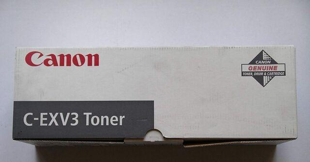 GENUINE ORIGINAL CANON C-EXV3 TONER BLACK INCLUDES VAT i077