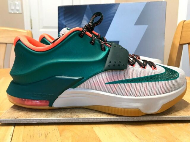 7b72890a7fe6 NIKE KD VII SIZE 10 MEN S SHOES AUTHENTIC EASY MONEY MYSTIC GREEN 653996 330