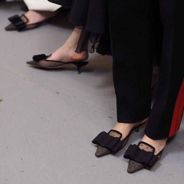 Dior haute couture Slip Kitten On Kitten Slip Heels d10b71