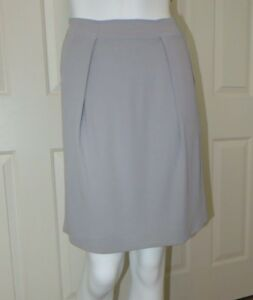 74be56efd Fendi Gray Skirt Italy 42 US Size 6 Plead Front Lined Side Pockets ...