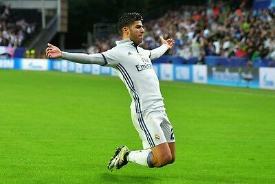 "Marco Asensio Spanish Footballer Real Madrid Team Club Silk Poster 13×20/"" 24×36/"""
