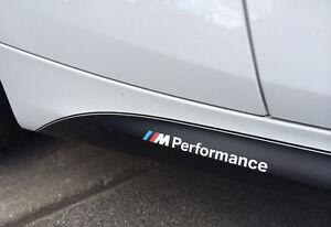 2x-BMW-M-Performance-side-skirt-White-decal-sticker-logo-F20-F30-E60-F10-E90-E46