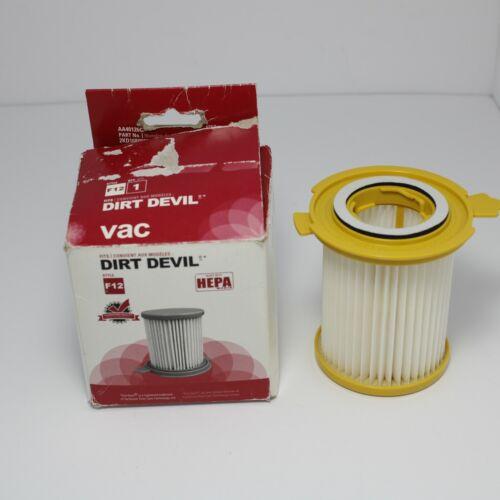 Dirt Devil Vacuum Hepa Filter Type F12 Part #2KD1680000 Vision Canister Models