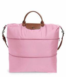 "extensible viaje Weekender Le 21 de Travel Longchamp Weekender Longchamp Nwt 21"" Xl rosa Xl Expandable Pink Auténtico Tote Pliage Bolsa Nwt Pliage Le qg5E5"