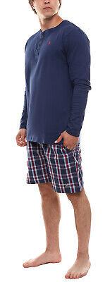 Polo-Shirt klassisches Herren Henley-Hemd Navy U.S POLO ASSN