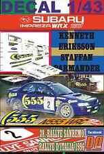 DECAL 1/43 SUBARU IMPREZA 555 K.ERIKSSON R.SANREMO 1996 5th (03)