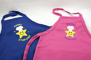 b8c874bd61 Image is loading Personalised -Embroidered-Childs-Boys-Girls-Baking-Cooking-Apron-