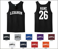 Country Of Lebanon Custom Personalized Name & Number Tank Top Jersey T-shirt