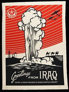SHEPARD-FAIREY-signed-GREETINGS-FROM-IRAQ-Large-Format-Screenprint-obey-giant