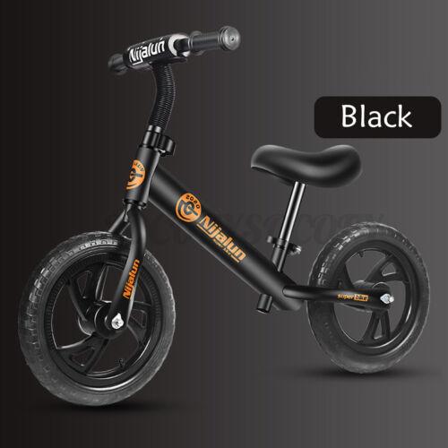 12/'/' Kids Balance Bicycle Adjustable Training Bike No-Pedal Learn Ride Pre Push