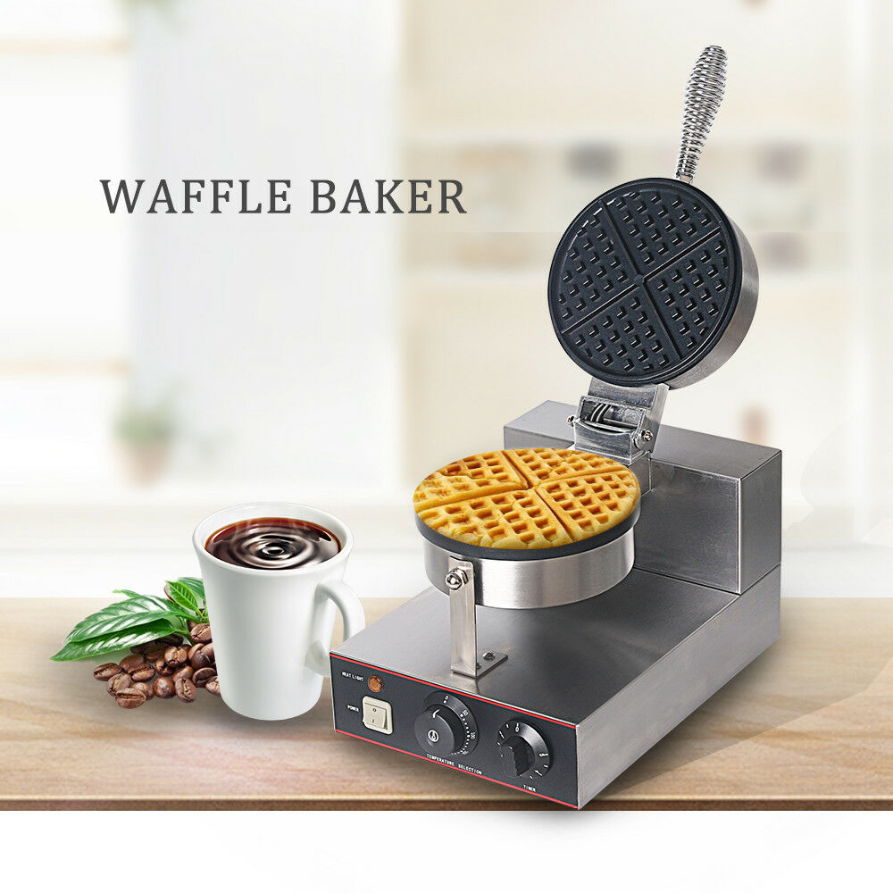 Electric anti rougeation rond standard Waffle Maker fer commercial Home
