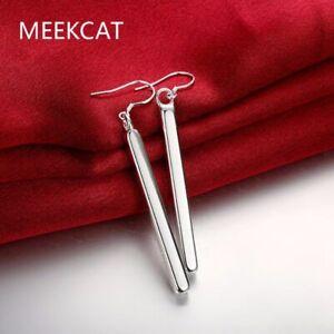 Damen-Ohrhaenger-Stab-Ohrringe-925-Sterling-Silber-plattiert