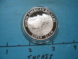 ALASKA YUKON MOOSE NORTH AMERICAN BIG GAME SLAM HUNTING 999 SILVER COIN #3