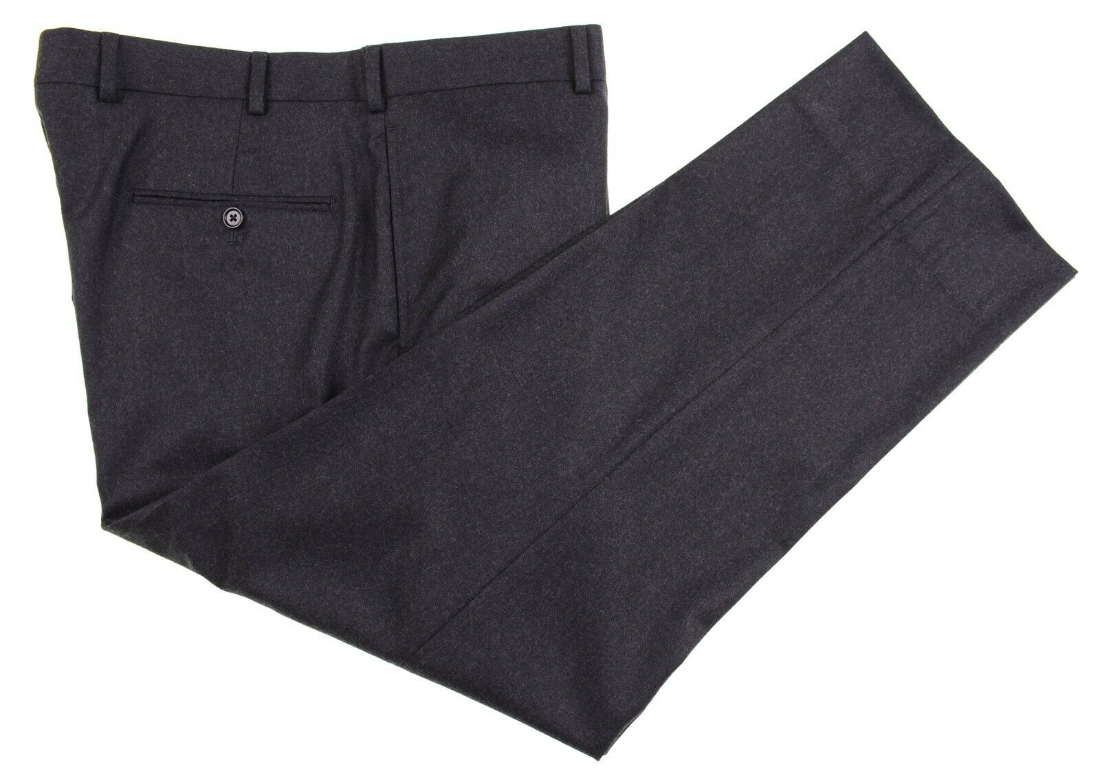 LNWOT Brooks Bredhers Madison Vitale Barberis FLANNEL Wool FLAT FRONT Pants 38
