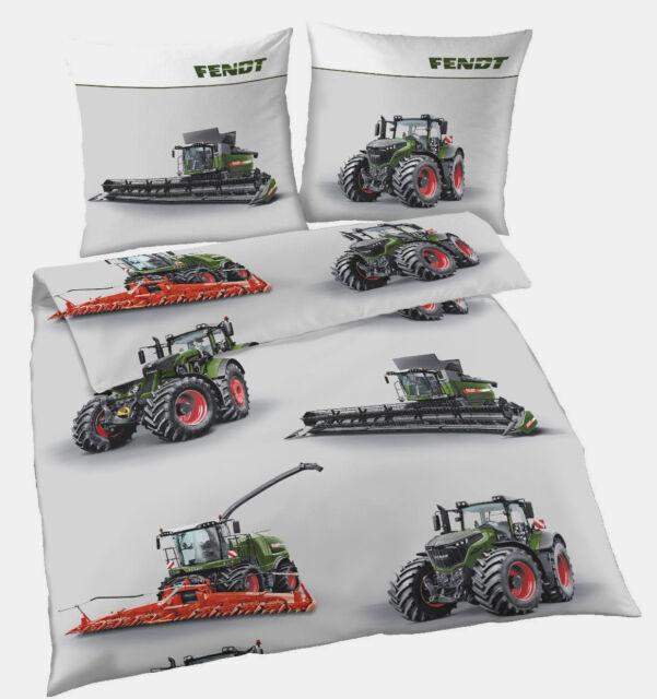 Bettwäsche 135x200 Fendt Trecker Traktor Mähdrescher Baumwolle
