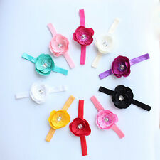 Cute Girl Flower Headband Accessories Baby Hair Bow Band Toddler Infant 10pcs
