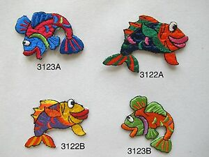 3122-Bass-Fish-Fishing-Embroidery-Iron-On-Applique-Patch