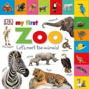 Tabbed-Board-Books-My-First-Zoo-by-DK-NEW-Book-FREE-amp-Fast-Delivery-Board-bo