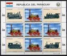 PARAGUAY 1985 Eisenbahn Train Railways 3904 Kleinbogen ** MNH