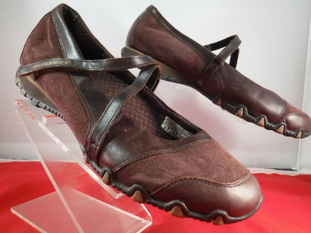 Skechers Brown Leather Shoes Mary Jane