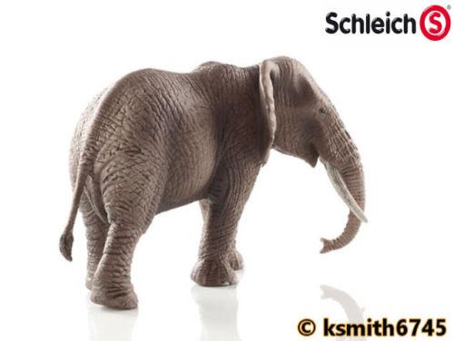 NOUVEAU * Schleich Éléphant Africain /& VEAU solide Jouet en plastique Wild Zoo Animal