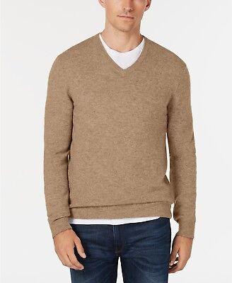 Club Room Men/'s Amethyst Purple Heather 100/% Cashmere V-Neck Pullover Sweater