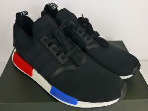 Details about adidas NMD R1 PK OG Primeknit 2017 Release Black Red Blue White (S79168) Size 12