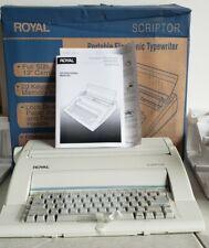 Royal Scriptor Portable Electronic Typewriter Ax 150